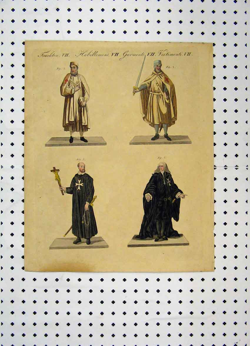 Print Colour C1800 Costume World Holy People Cross 121A102 Old Original