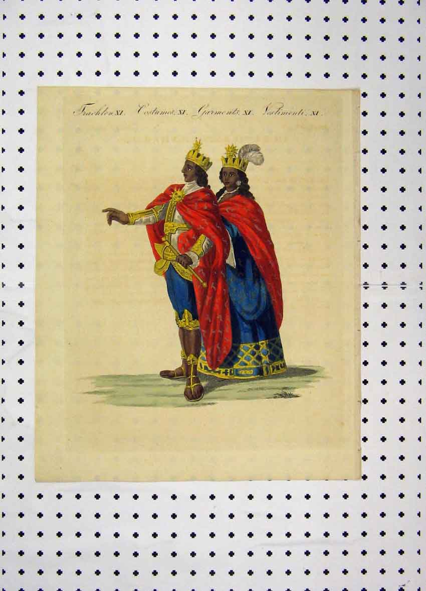 Print Costumes World C1800 Colour King Queen Cloaks 162A102 Old Original