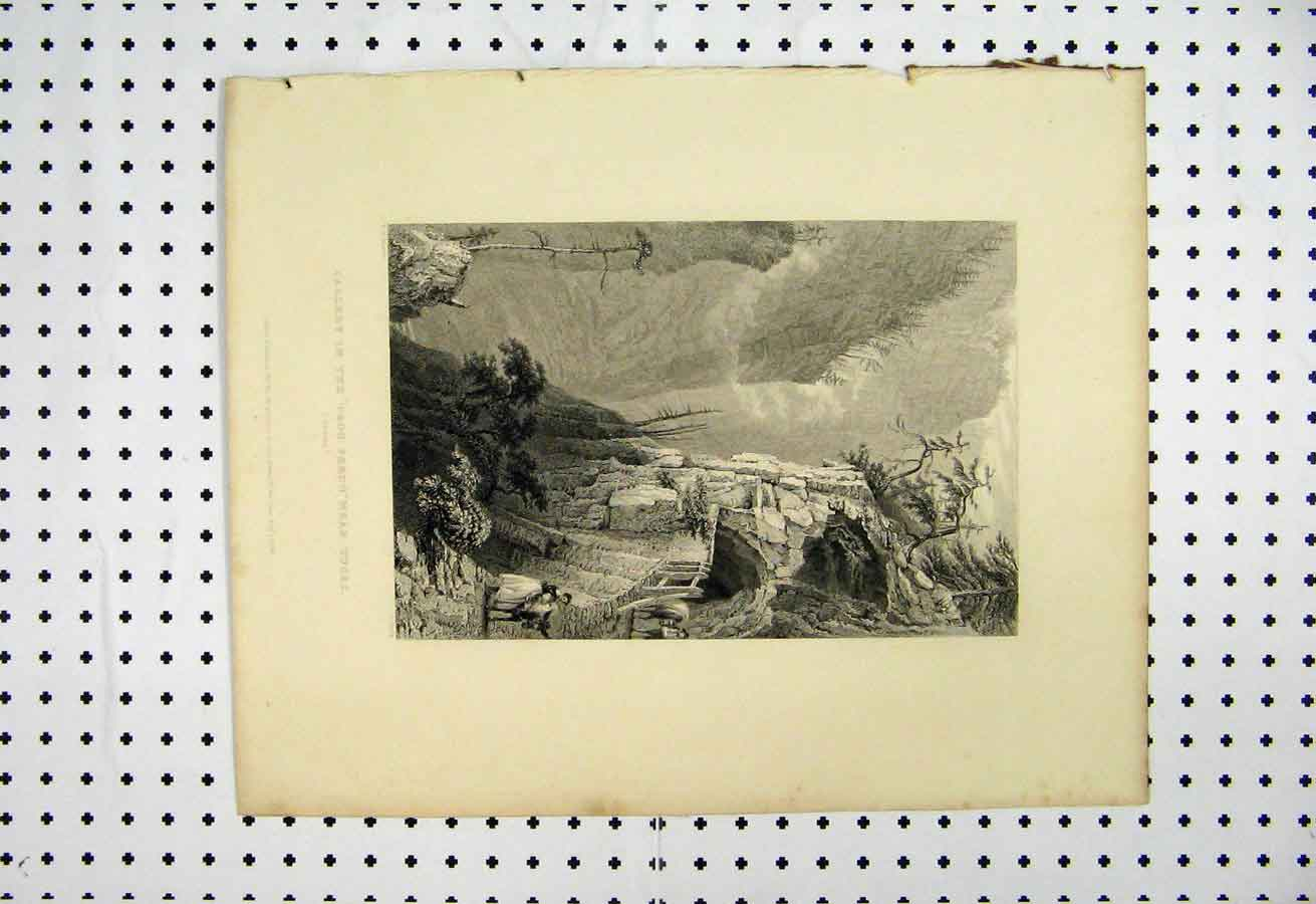 Print 1873 Gallery Trou Perdu Tuses Bartlett Smith 122A105 Old Original