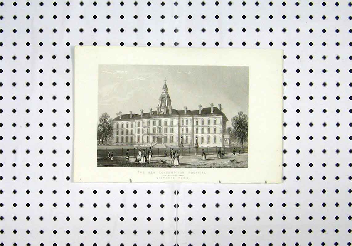 Print C1836 New Consumption Hospital Victoria Park 104A106 Old Original