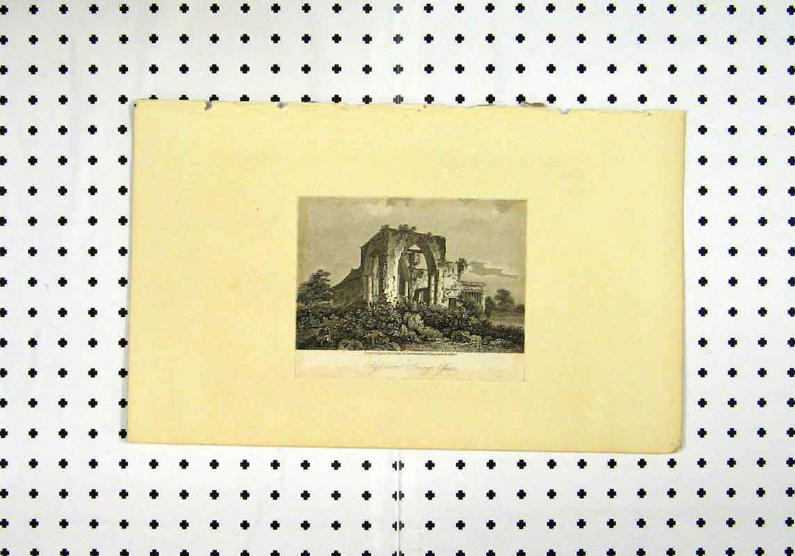 Print View Priory C1836 Ruins Building Country 133A106 Old Original