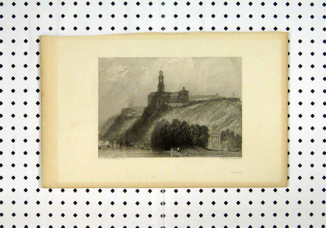 Print View Sea Castle Hillc1836 Country Turner Brandard 258A106 Old Original