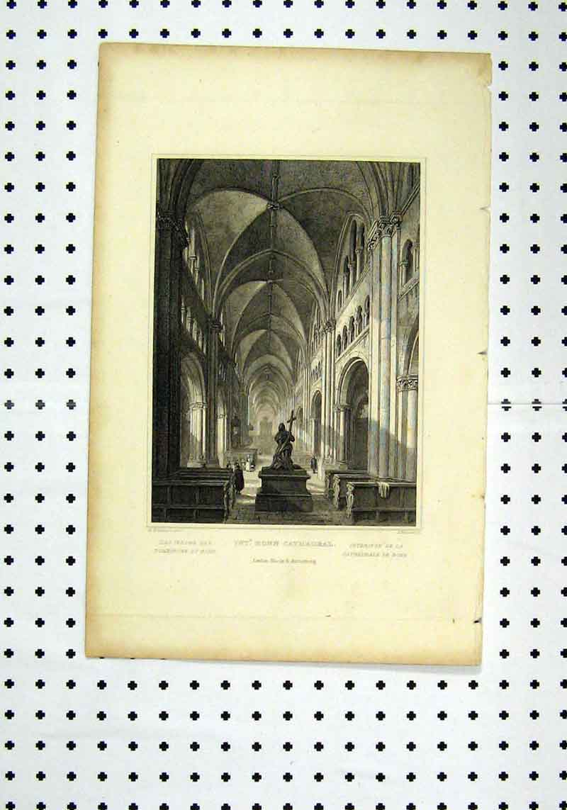 Print C1836 Interior Ronn Cathedral Tombleson Howard 276A106 Old Original
