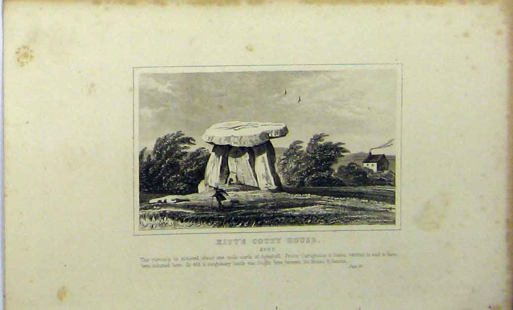 Print C1848 Kitt'S Cotty House Kent Prince Cartigrinus 108A114 Old Original