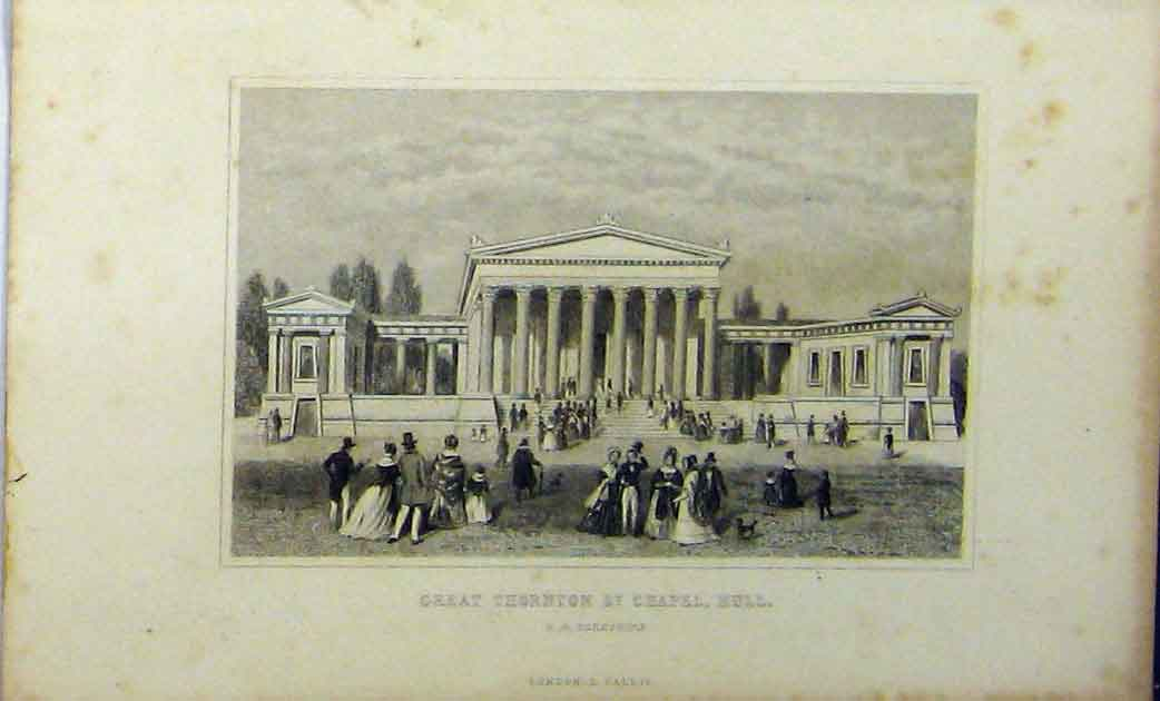 Print View Great Thornton St Chapel Hull C1848 Yorkshire 257A114 Old Original