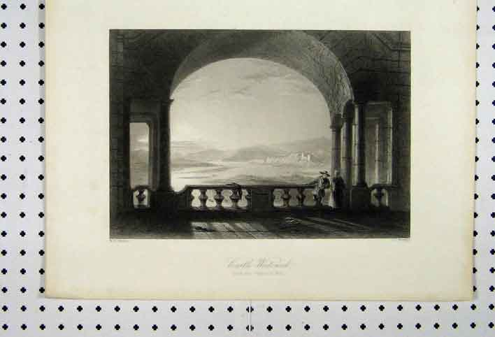 Print View Castle Weiteneck C1865 Gallery Molk 104A115 Old Original