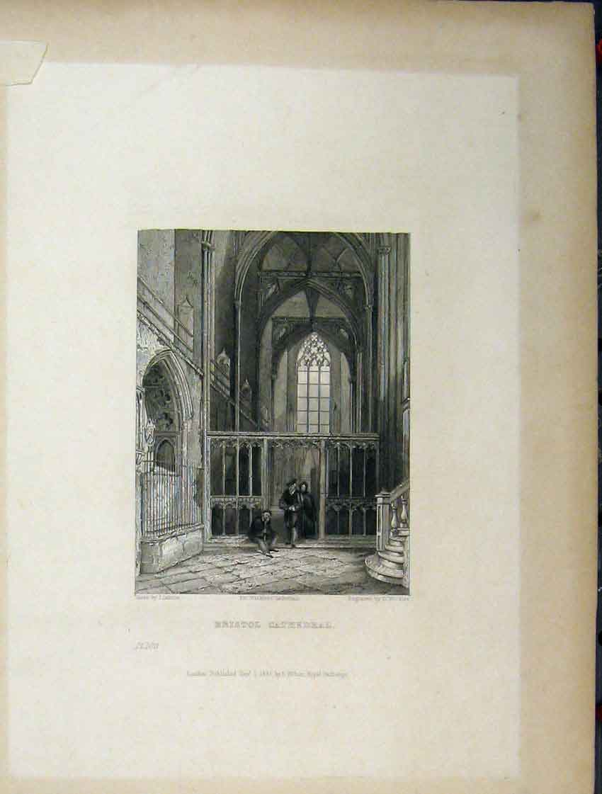 Print Four Pages Bristol Cathedral Choir Chapter House Plan 101Aa116 Old Original