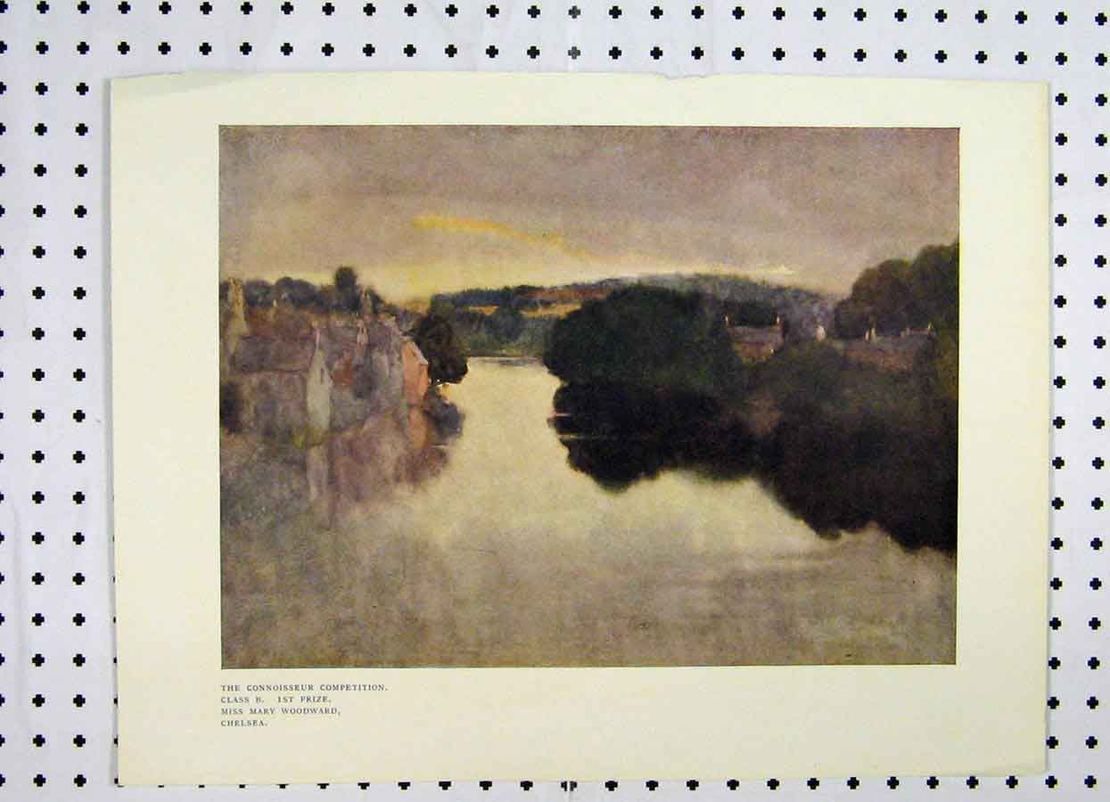 Print 1906 Connoisseur View Chelsea Mary Woodward Lake 169A119 Old Original