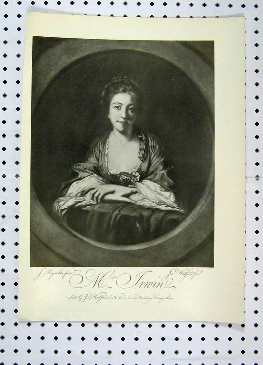Print 1904 Portrait Beautiful Woman Connoisseur 181A119 Old Original