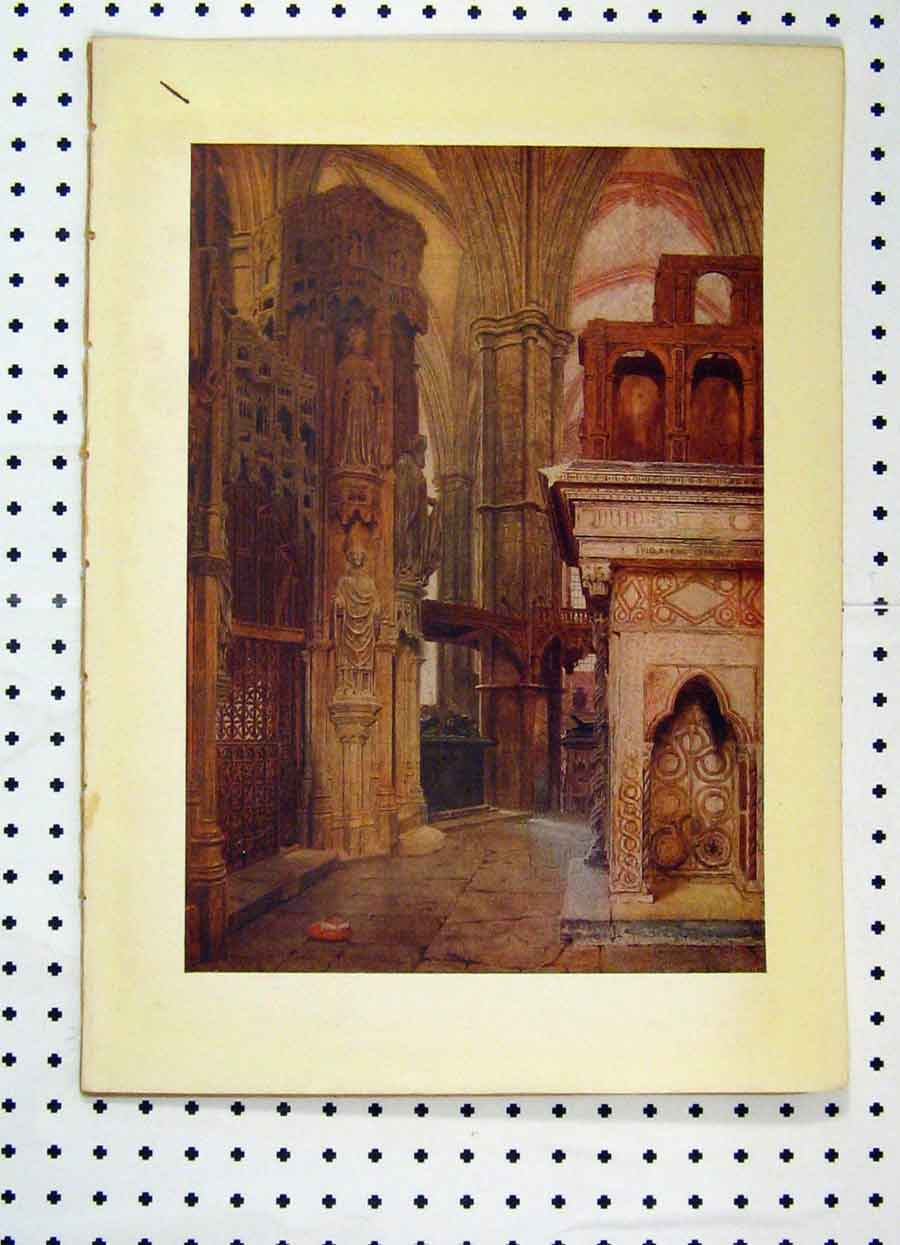 Print Colour Interior Cathedral George Price Boyce 204A119 Old Original