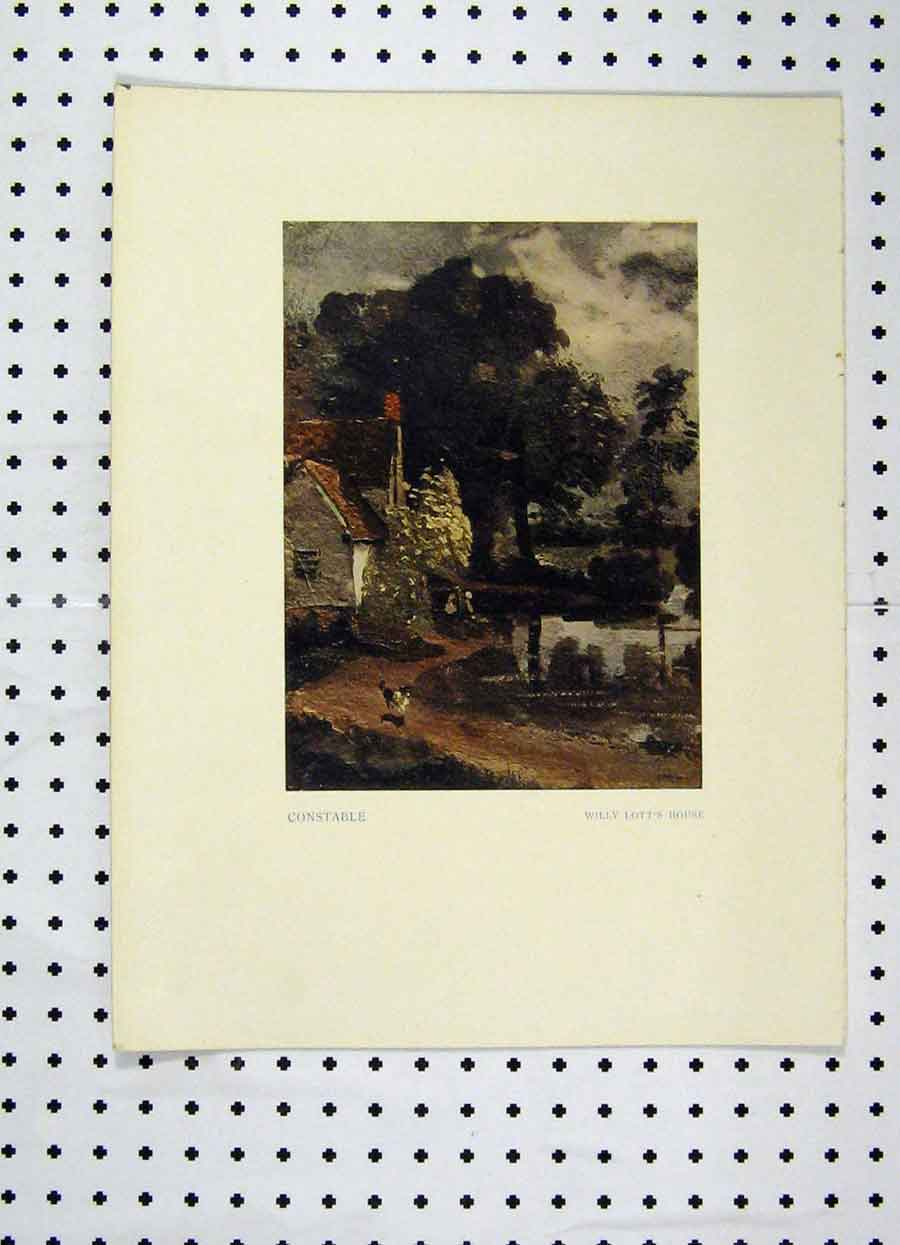 Print Colour Willy Lott'S House Constable 216A119 Old Original