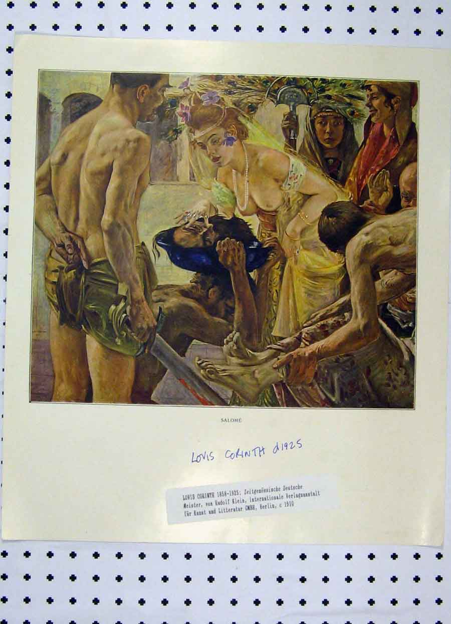 Print Colour Lovis Corinth Men Womaen Feathers 221A119 Old Original
