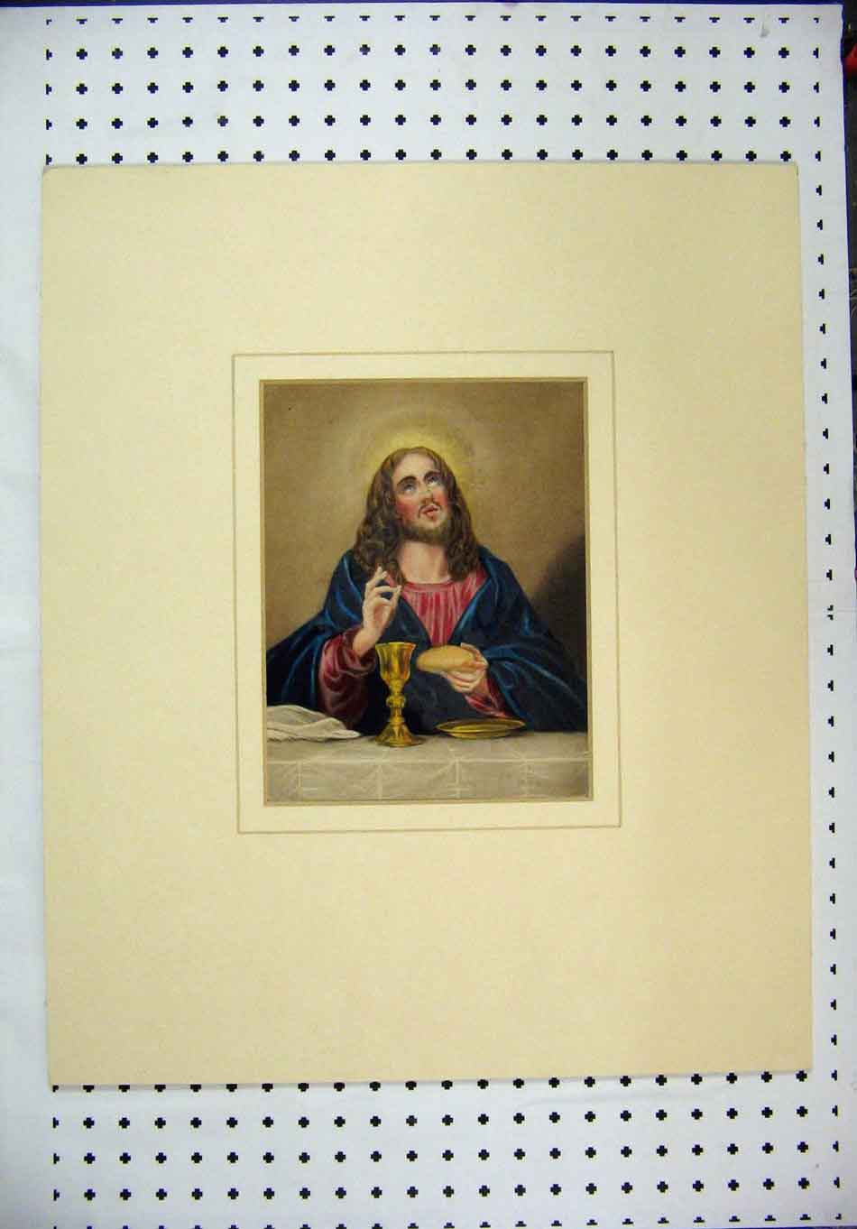 Print Colour Long Haired Man Bread Gjug Plate 109A128 Old Original