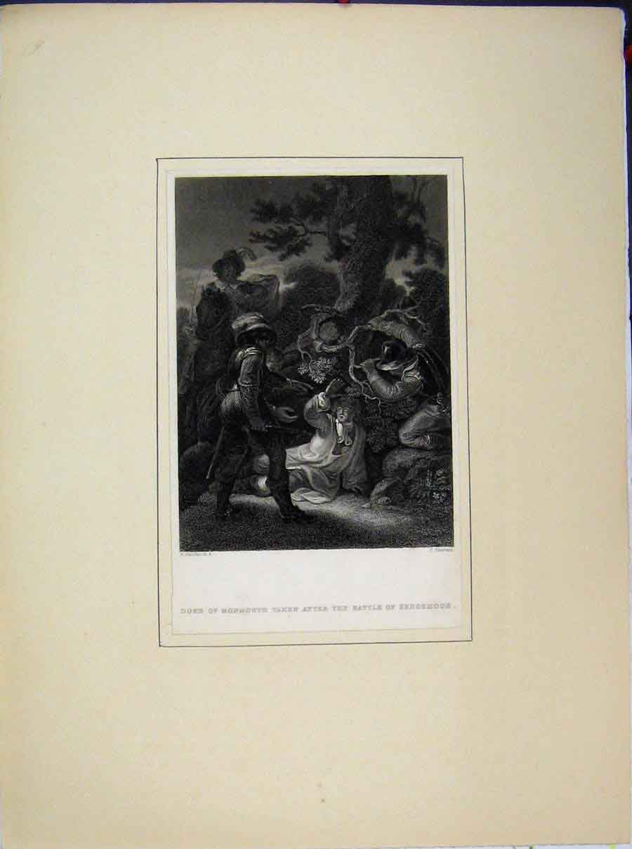 Print Duke Monmouth Battle Sedgemoor Sherratt 519A189 Old Original