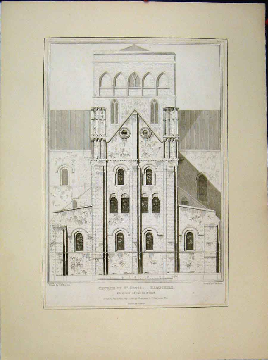 Print 1818 Church St Cross Hampshire Elevation East End 560A189 Old Original
