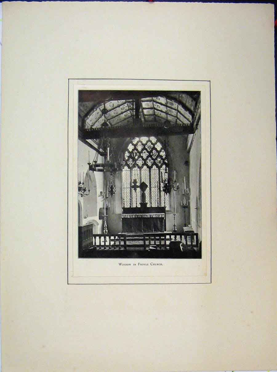Print View Window Froyle Church Photograph 575A189 Old Original