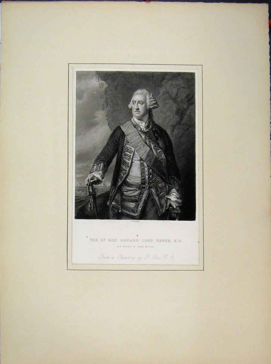 Print 1807 Portrait Queen Elizabeth Bodlien Library Oxford 619A189 Old Original