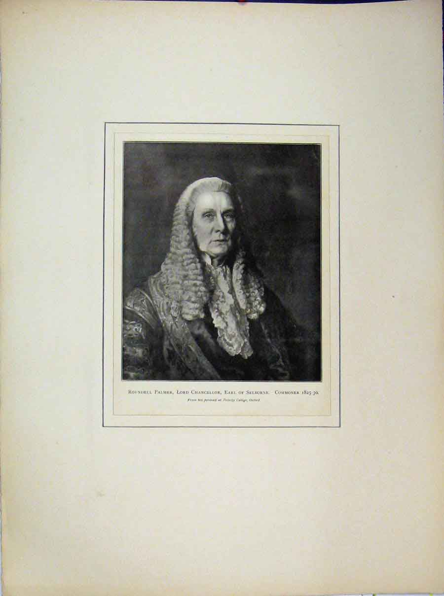 Print 1825 Roundell Palmer Lord Chancellor Earl Selborne 628A189 Old Original