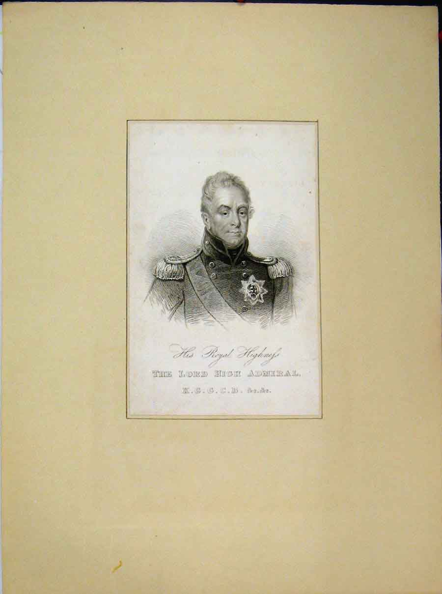 Print Portrait Royal Highness Lord High Admiral 688A189 Old Original