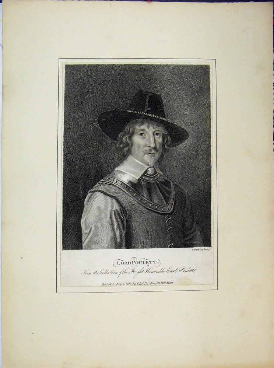 Print Portrait Honorable Earl Lord Poulett1799 Harding 731A189 Old Original
