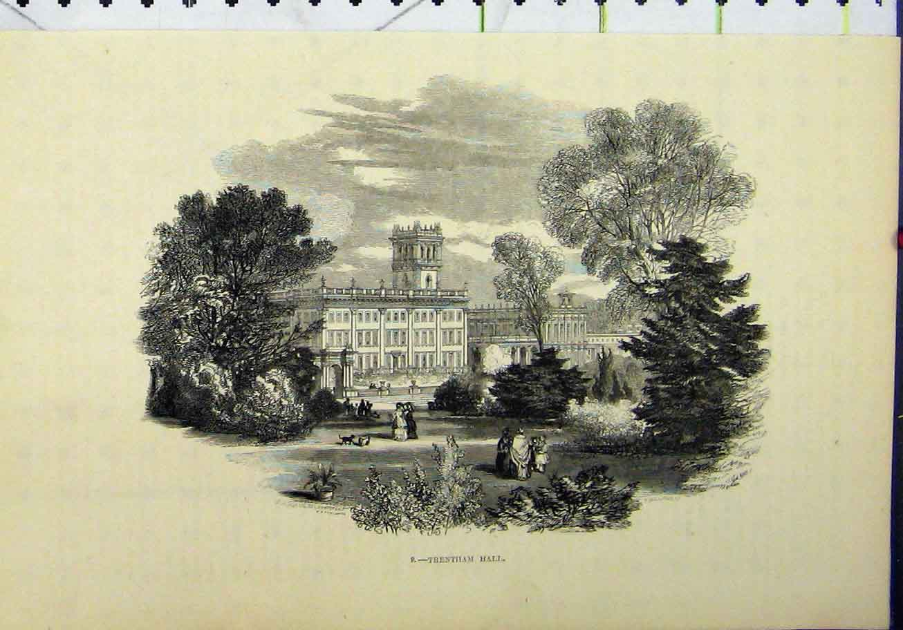 Print View Trentham Hall Building Williams 266A193 Old Original
