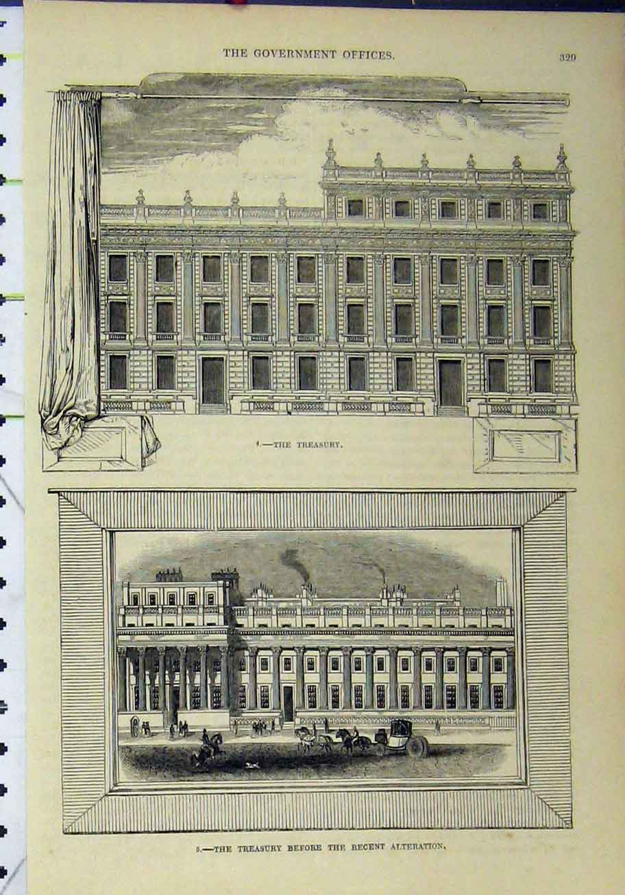 Print View Government Offices Treasury Building 309A193 Old Original