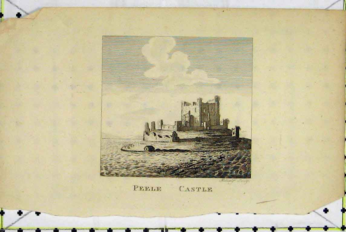 Print View Peele Castle Moat Metcalf Ruins 1800 392A196 Old Original