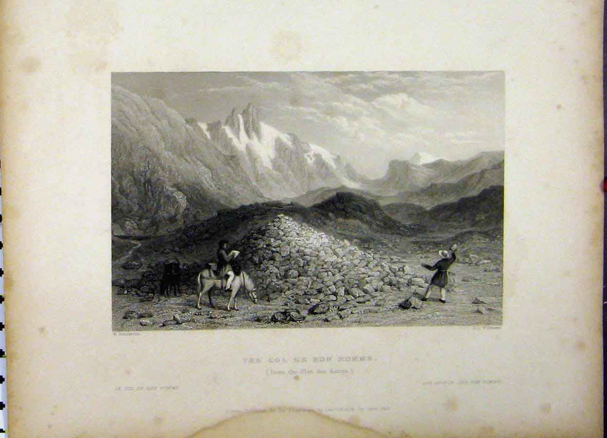 Print 1837 Mountain View Col De Bon Homme Willmore 739Aa198 Old Original
