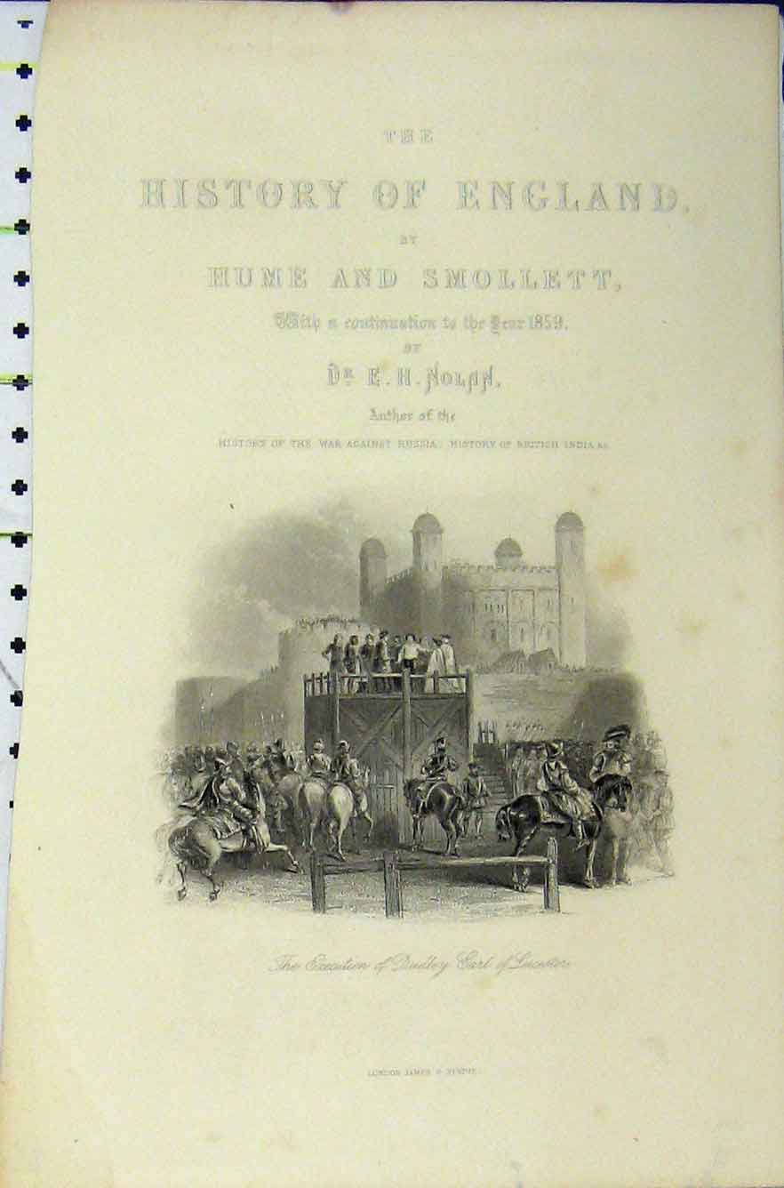 Print 1859 Execution Dudley Earl Leicester 316B211 Old Original