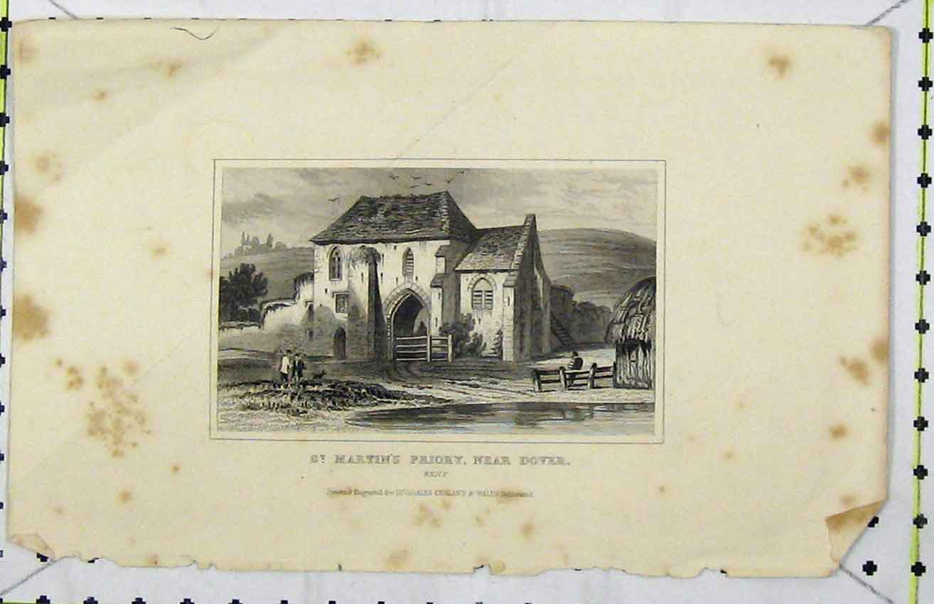 Print View St. Martins Priory Dover C1850 Dugdales 249B216 Old Original