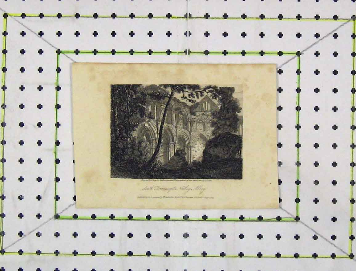 Print 1809 View South Transept Netley Abbey Church Greig 146Bb219 Old Original