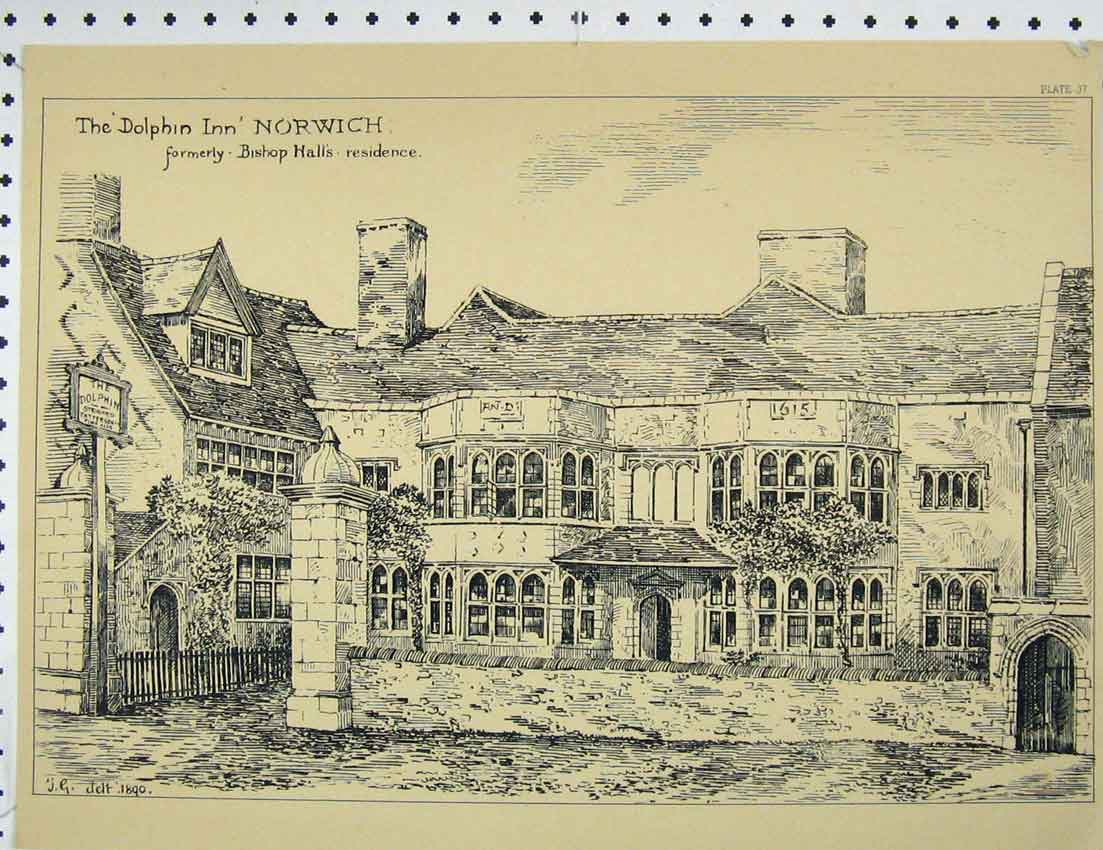 Print View Dolphin Inn Bishop Hall Residence 335B221 Old Original