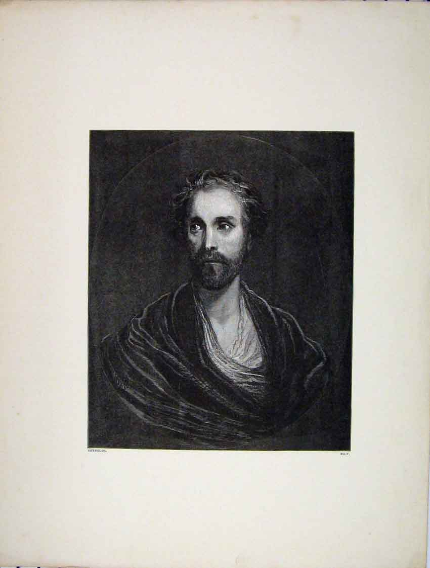 Print Engraving Portrait Man Banished Lord Reynolds 258B222 Old Original