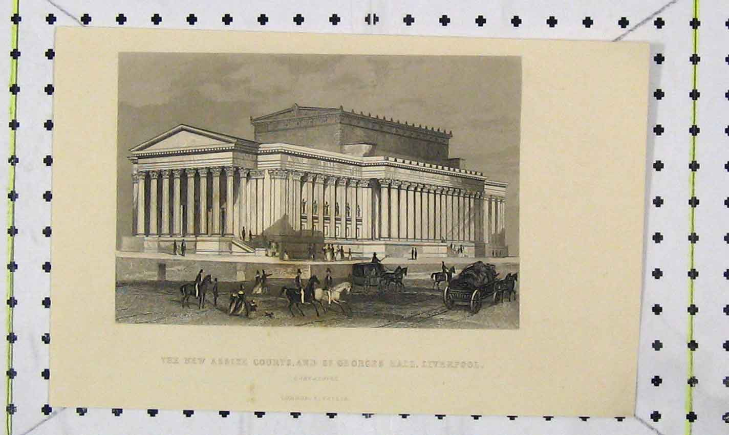 Print New Assize Courts St Georges Hall Liverpool Lancashire 202B226 Old Original