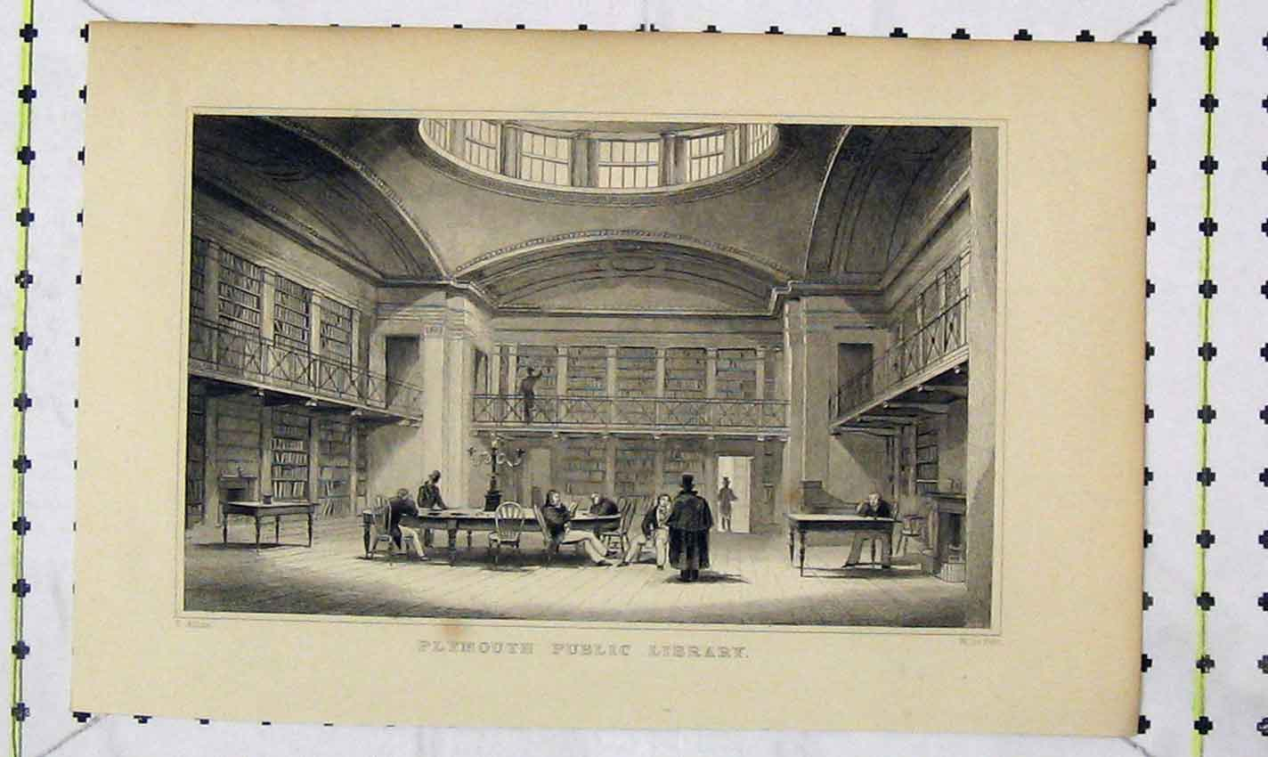Print View Plymouth Public Library Allom Petit 227B226 Old Original