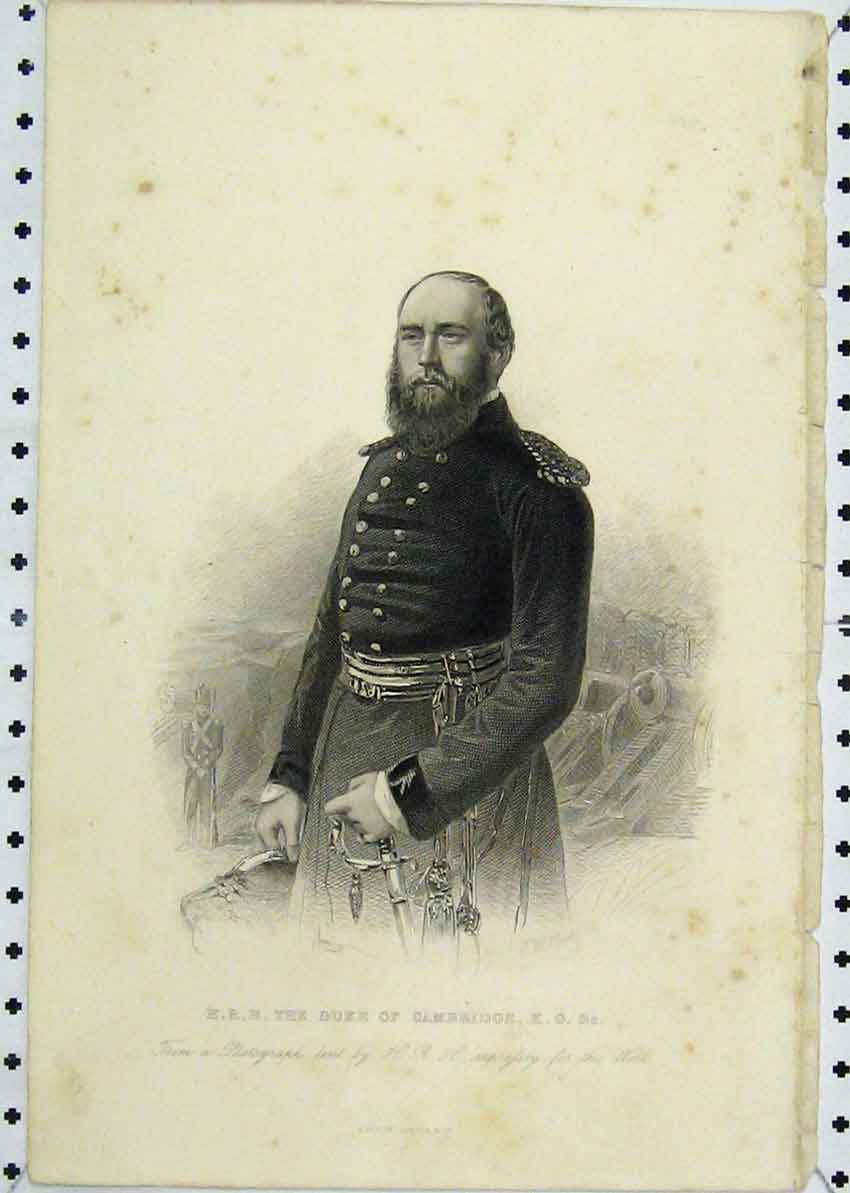 Print *0080 Portrait Duke Cambridge Army Uniform 106B227 Old Original