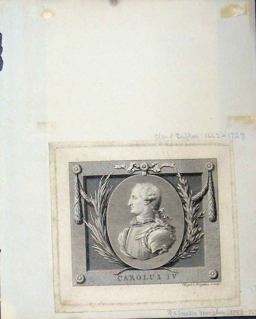 Print  Scrapbook Carolus Bust Princess Stutgard 125Rb239 Old Original