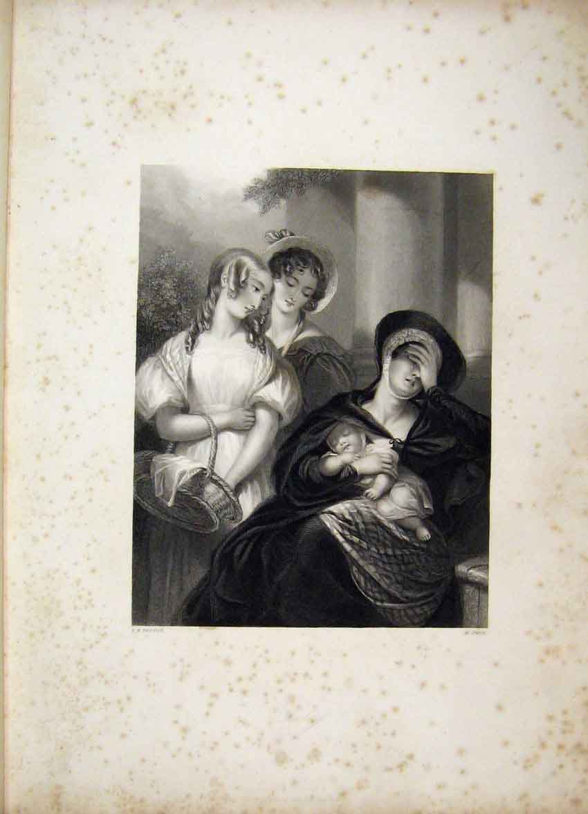Print C1840 Gems Beauty Verse Blessington Women Baby Cook 101B241 Old Original