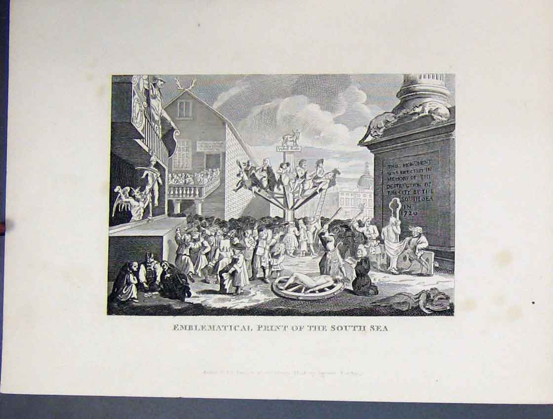 Print View Emblematical South Sea C1860 Bible Study 207B245 Old Original