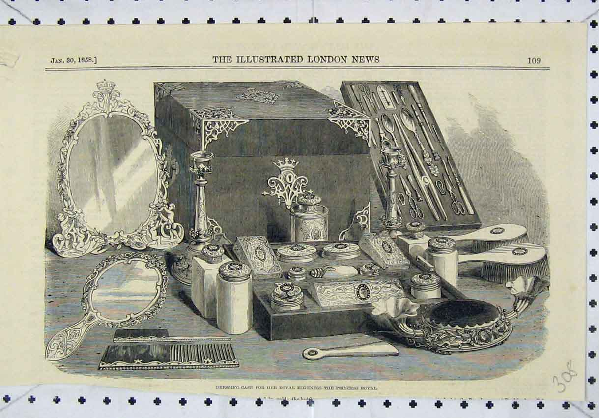 Print Dressing-Case Her Royal Highness Princess 1858 308B246 Old Original