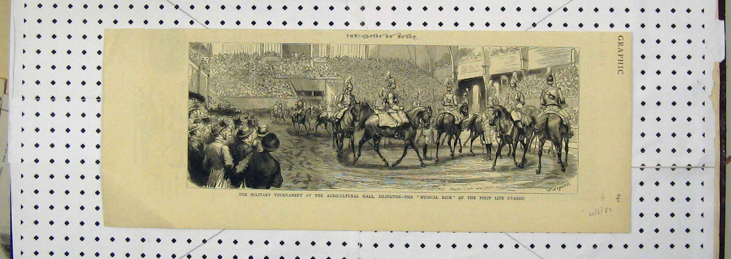 Print Military Tournament Agricultural Islington Musical Ride 111Ab251 Old Original