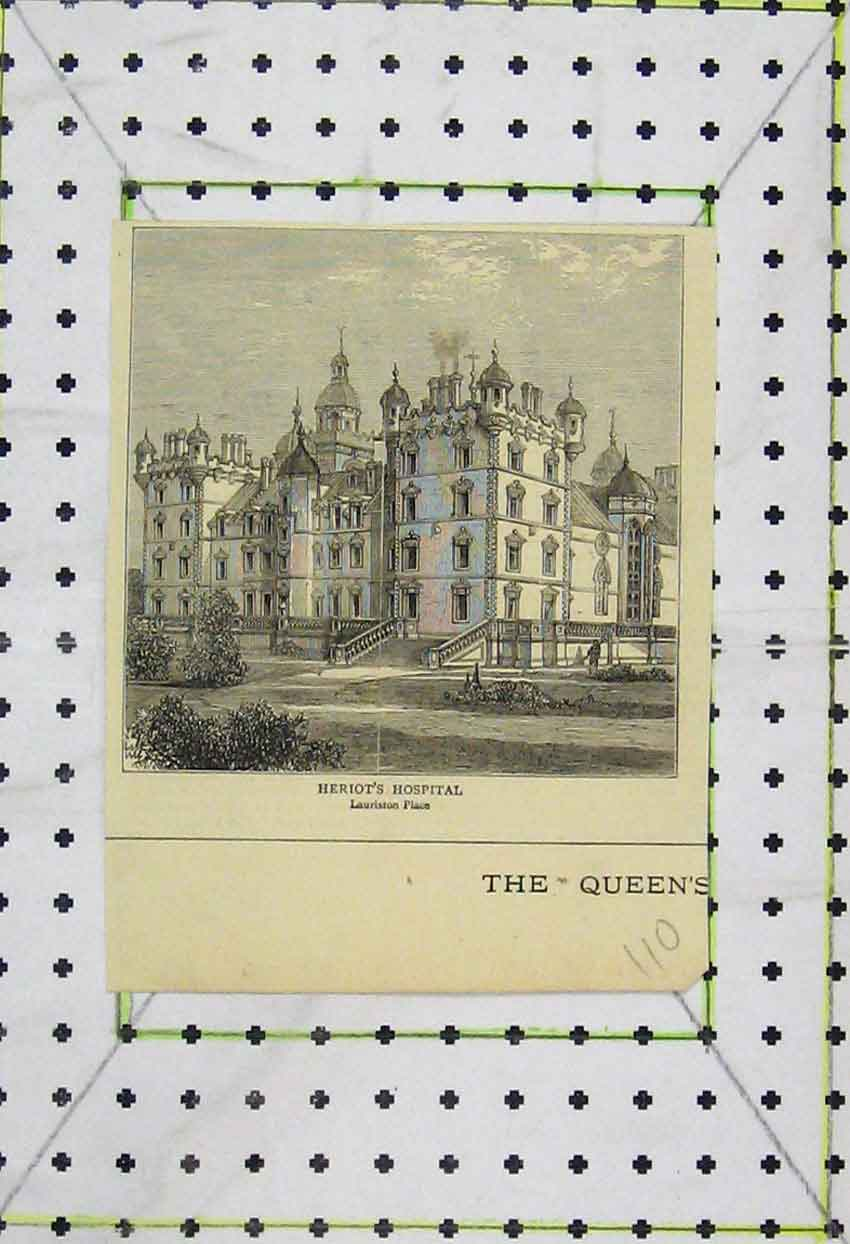 Print View Heriot'S Hospital Lauriston Place 110B253 Old Original