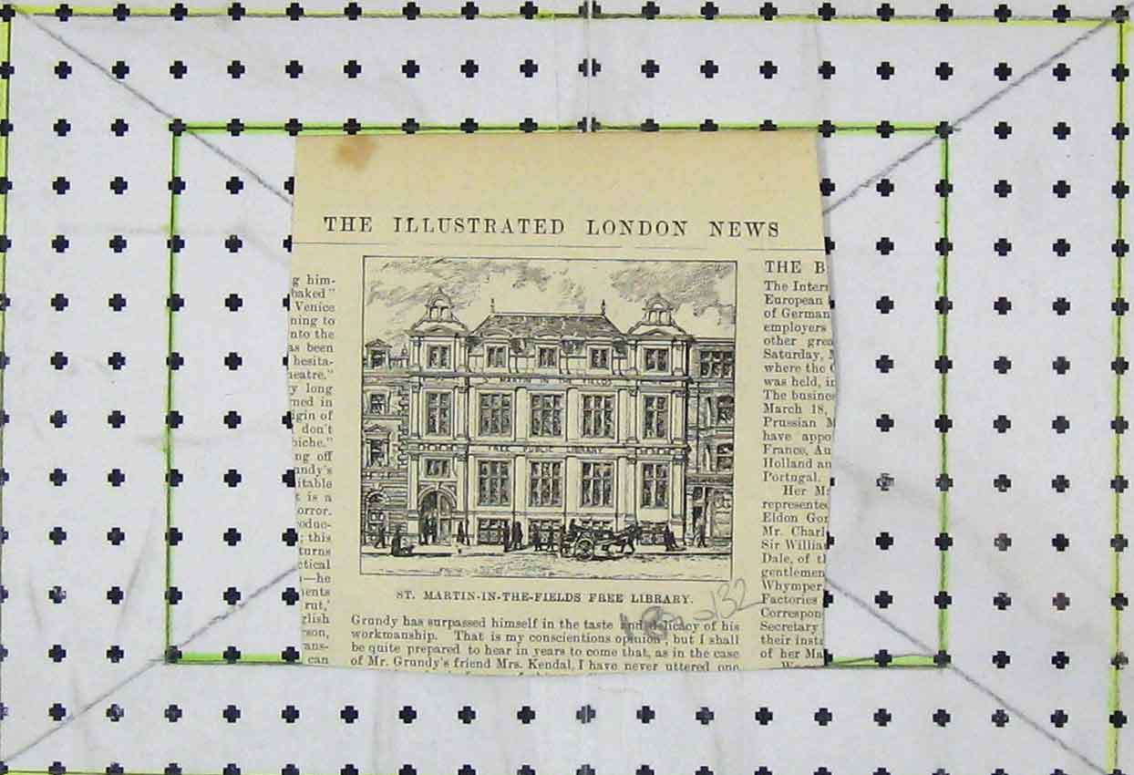 Print View St Martin-In-The-Fields Free Library 132B253 Old Original