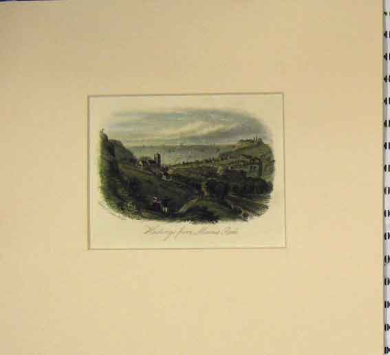 Print 1840 View Hastings Minnis Rock Country 103B255 Old Original