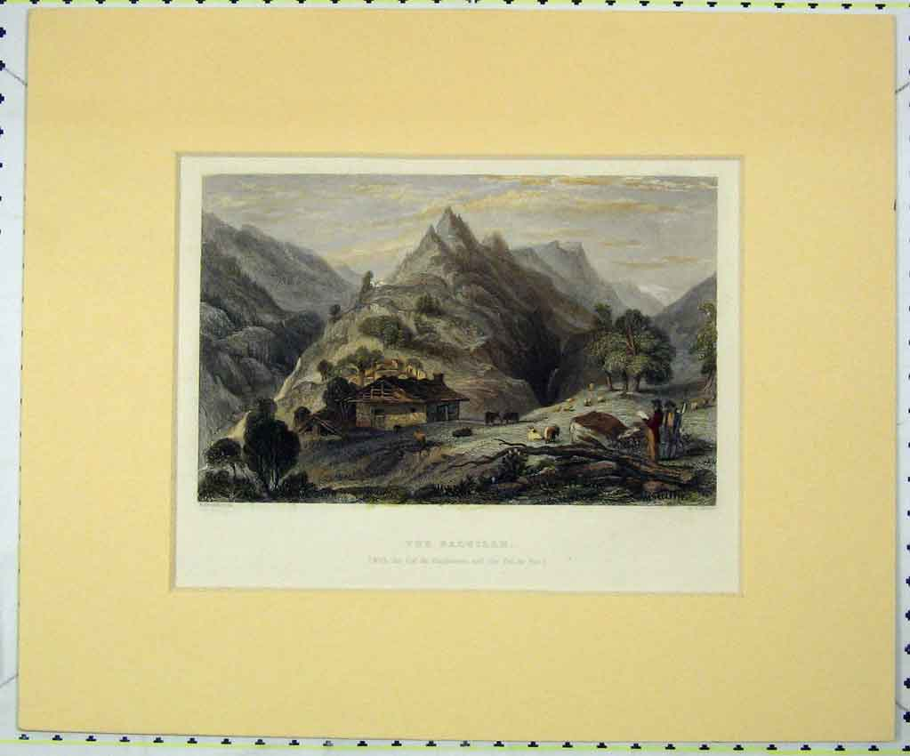 Print View Balsille Mountains 1840 Hand Coloured Smith 129B265 Old Original