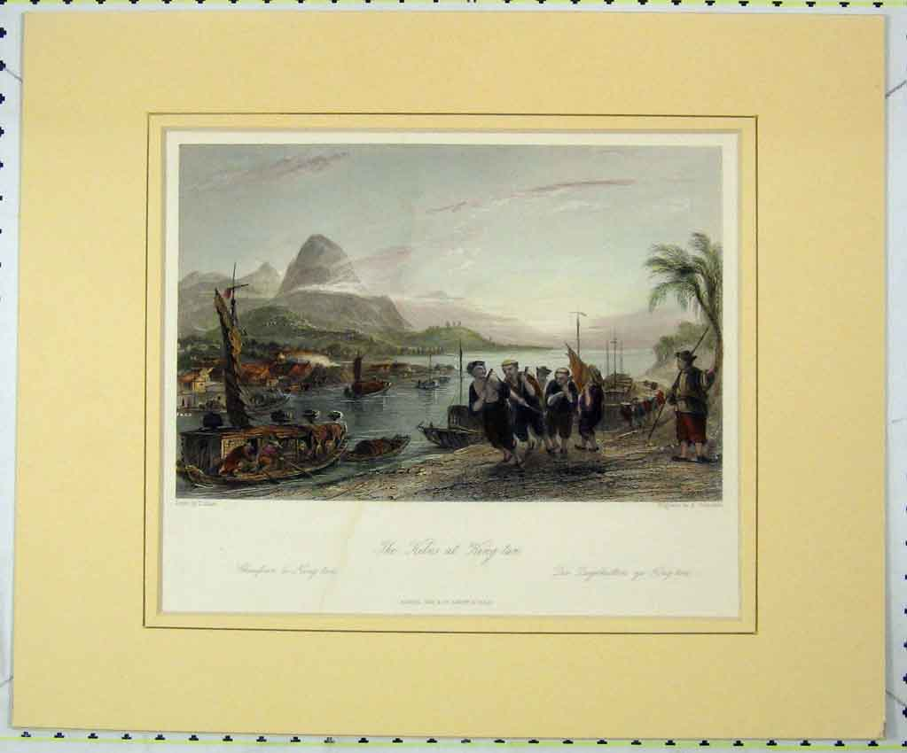 Print View Kilns King-Tan 1840 Hand Coloured Benjamin 146B265 Old Original