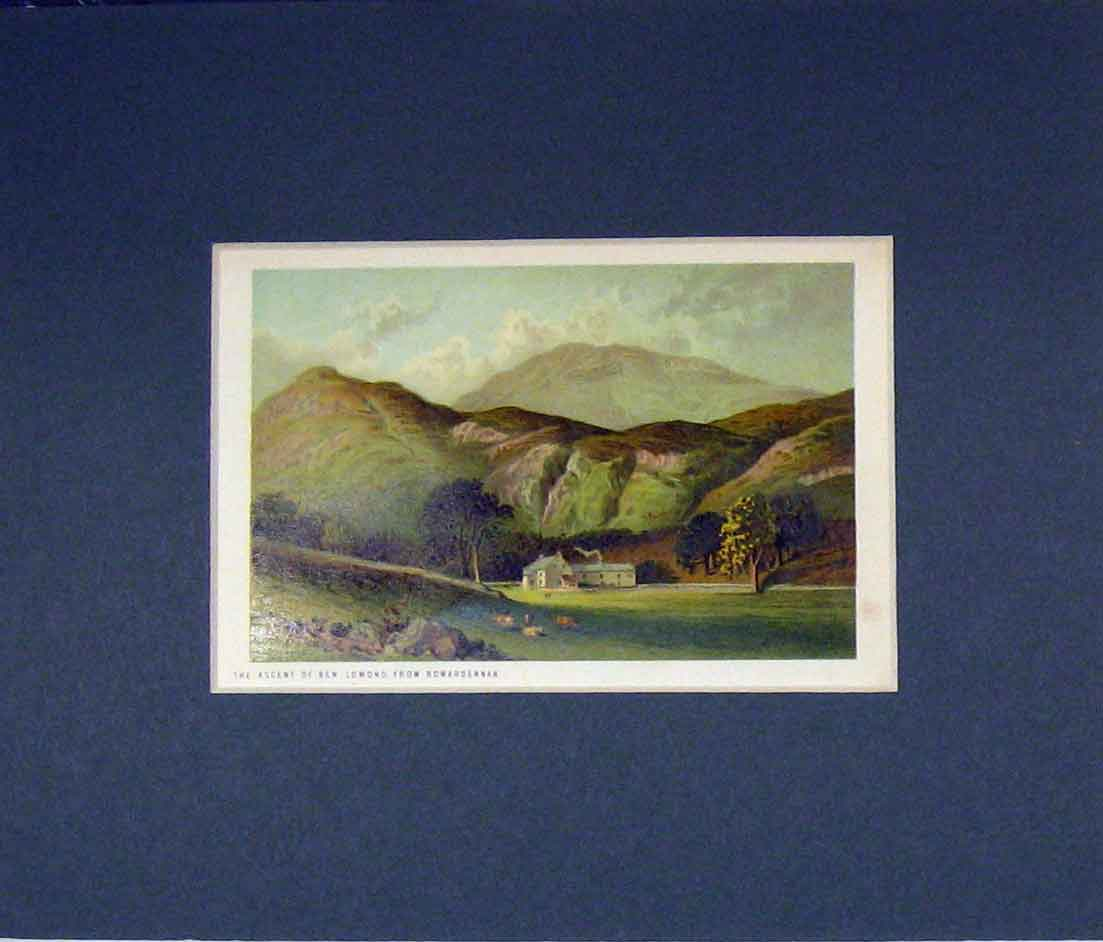 Print View Ascent Ben Lomond Rowardennan 1870 Chromo-Litho 514B280 Old Original