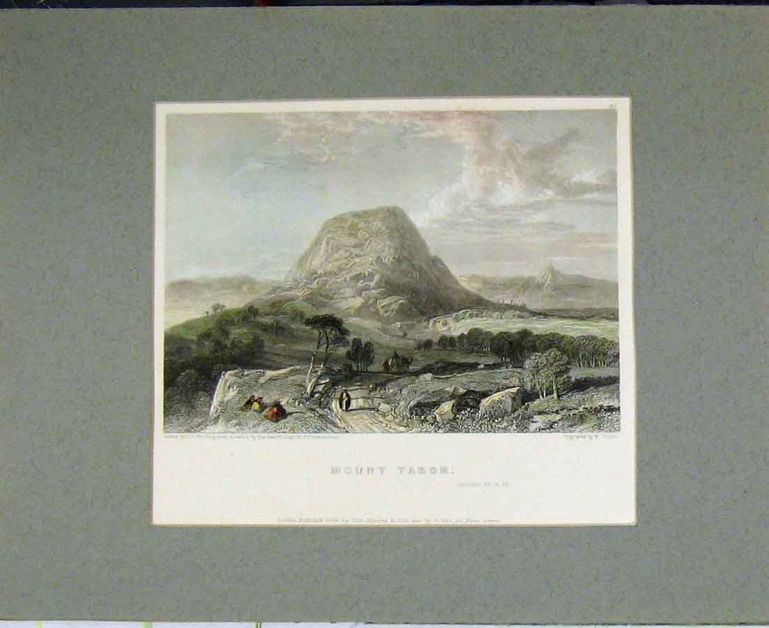 Print View Mount Tabor 1834 Hand Coloured Country 413B281 Old Original