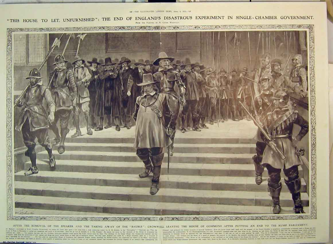 Print 1910 Government Speaker House Commons Parliament 172B349 Old Original