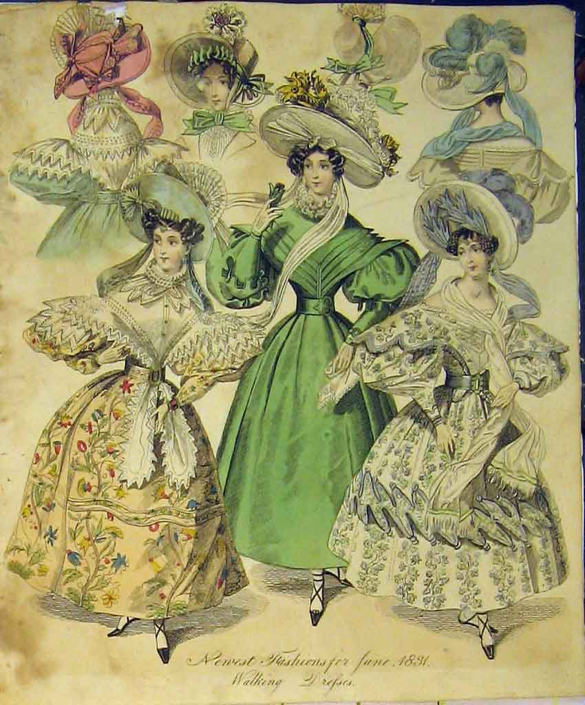 Print 1831 Womens Fashion Walking Dresses Hat Colour 150B357 Old Original